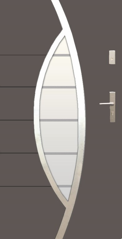 Drzwi wejściowe WIKĘD PREMIUM wzór 31a przeszklenie INOX